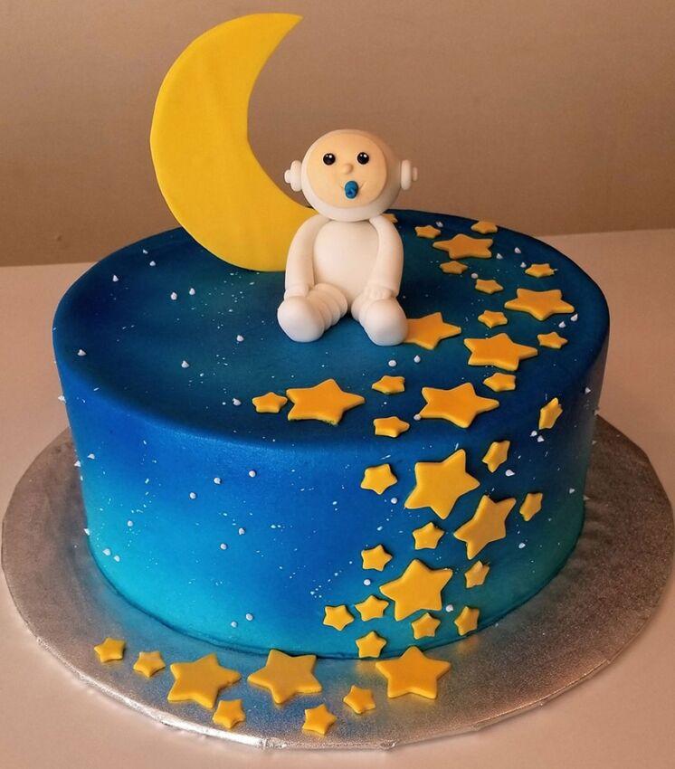 Baby Shower Cake Monkey Night