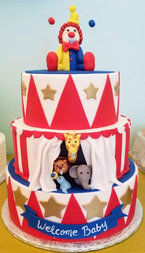 Baby Shower Cake Circus