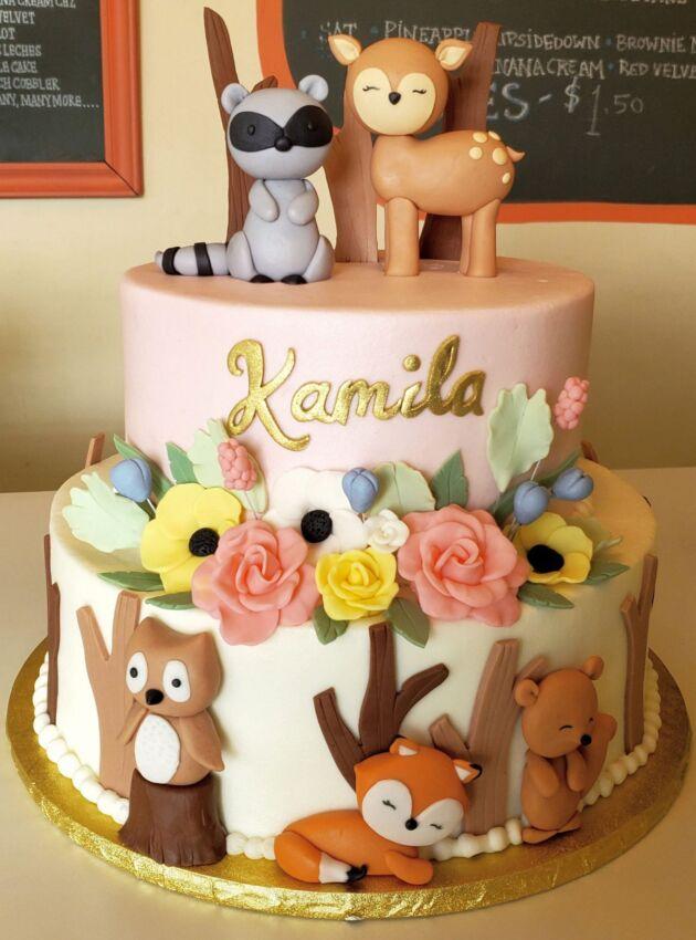 Baby Shower Cake Animals