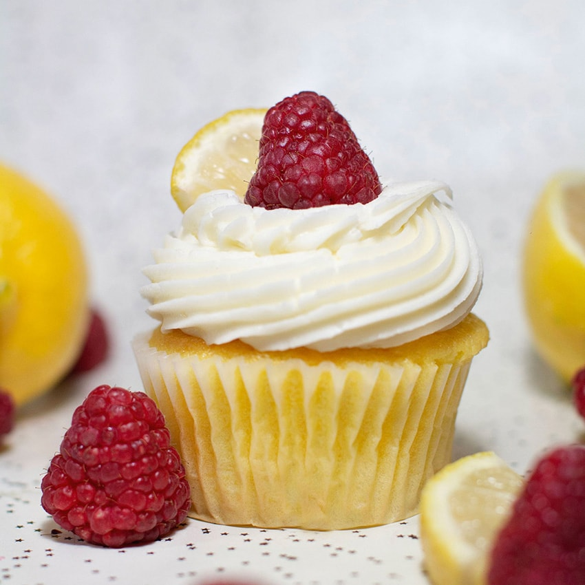 Lemon Raspberry Cupcake