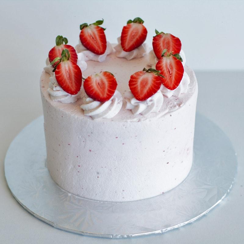 Strawberry Love Cake